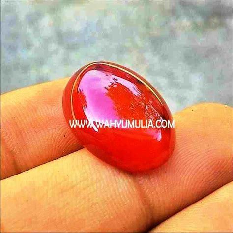 Batu Akik Baron Merah As142 batu yaman merah baron 2 wahyu mulia