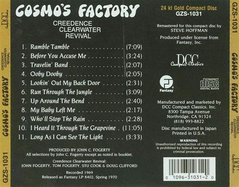 Cd Creedence Clearwater Revival Cosmo S Factory 2 Swingville Creedence Clearwater Revival Cosmo S Factory