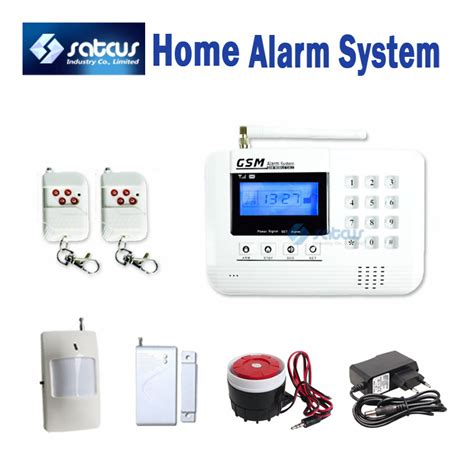 wireless lcd gsm alarm home security system pir motion