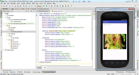 tutorial android studio camera how to play video in android studio 1 4 youtube