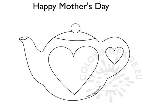 Teapot S Day Card Printable Template by Mothers Day Teapot Crafts Template Car Interior Design