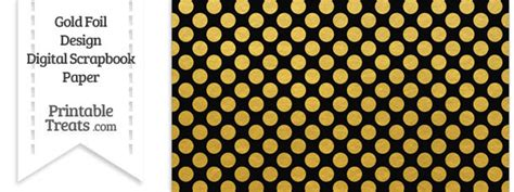 gold printable paper uk black and gold foil dots digital scrapbook paper