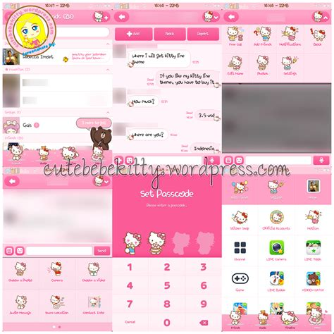theme line android hello kitty hello kitty line stickers line theme cute bebe kitty