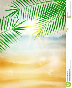 abstract summer poster with beach stock vector image