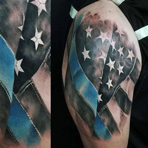 thin blue line tattoo designs 50 thin blue line designs for symbolic ink ideas