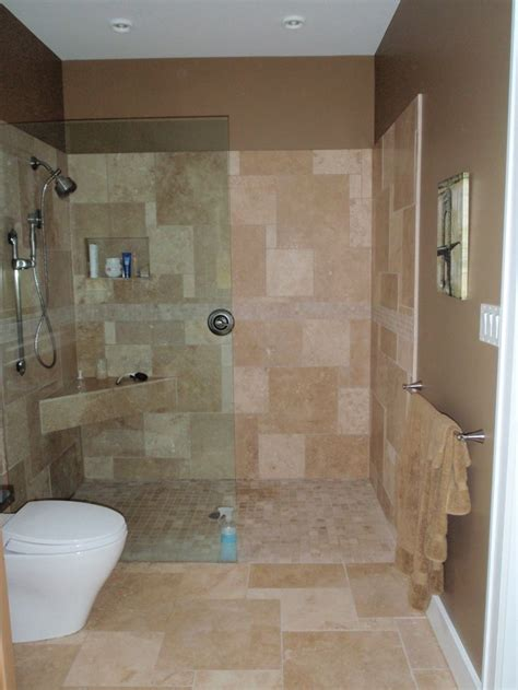 Open Shower No Door Shower Doors Pinterest Shower Designs For Bathrooms