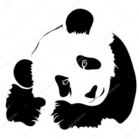 panda tattoo template outline panda vector illustration can be use for logo or