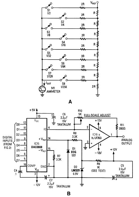 digital to analog converter integrated circuit digital to analog converter d a converter a d d a converter circuit circuit diagram