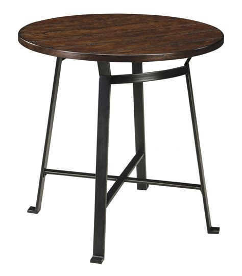 challiman round dining room bar table d307 12 pub