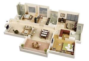 3 Bedroom Floor Plans 25 More 3 Bedroom 3d Floor Plans Architecture Amp Design