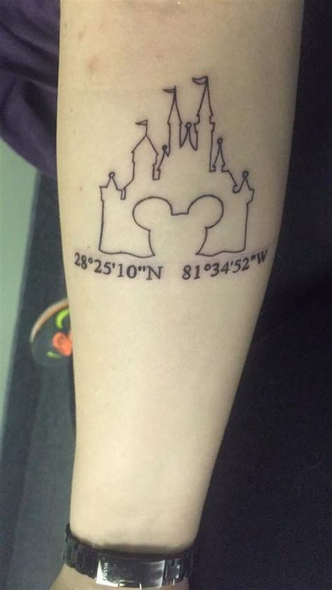 disney castle outline tattoo pictures to pin on pinterest
