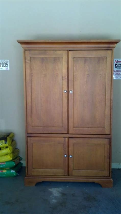 Sewing Armoire by The Corner Yard Transforming A Television Armoire Into A