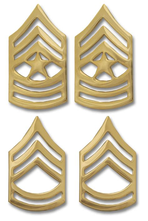 Us Rank Gold army enlisted non tarnish rank insignia