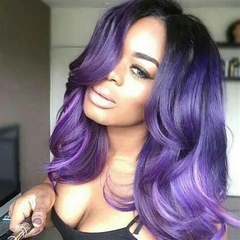 Black Hairstyles Weave On For Summerblack And Purple | 259 best images about colored women with colored hair on
