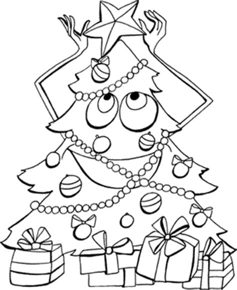 Free Christmas Printable Coloring Sheets Worksheets Pages Tree With Gifts Coloring Pages