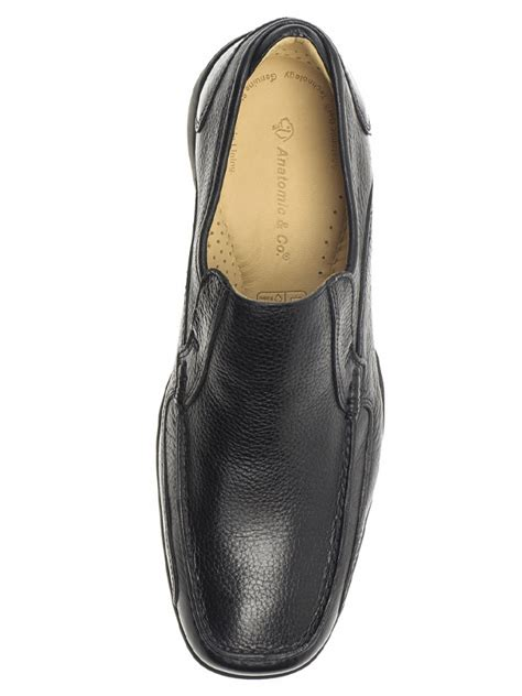 mens parati black slip on shoes by anatomic co
