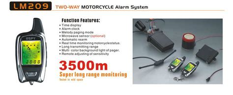 Alarm Motor 5000m high quality two way motorcycle alarm new economic