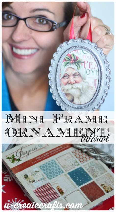 Baby Shower Crafts Pinterest by Diy Mini Picture Frame Christmas Ornament U Create