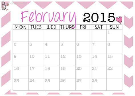 printable calendar girly 8 best images of chevron blank printable calendar 2015