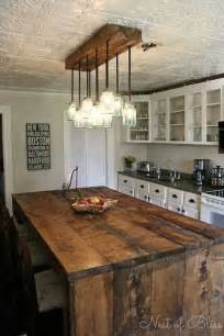 diy kitchen lighting ideas 32 simple rustic homemade kitchen islands