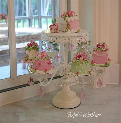 mel s shabby chic cake stand with faux pink cakes products i love pinterest