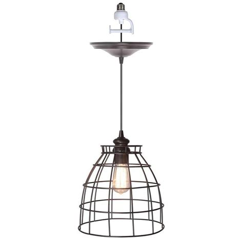 pendant light conversion kit home depot worth home products instant pendant series 1 light brushed