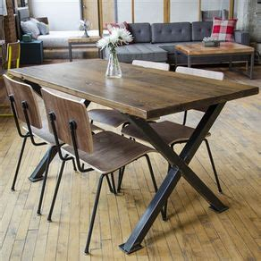 small industrial dining table dining and kitchen tables farmhouse industrial modern