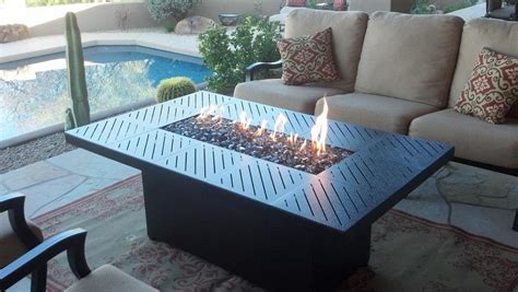 how to your own propane pit table custom propane pit tables arizona backyard custom