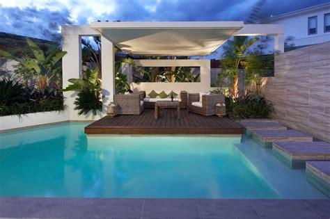 pool cabana ideas Pool Contemporary with aralia artificial