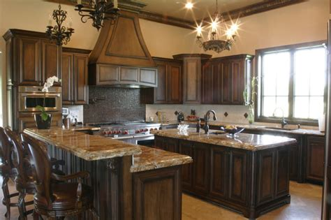 kitchens with dark wood cabinets two tones style with kitchen colors with dark wood