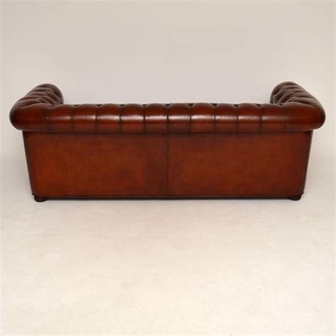 antique chesterfield sofa antique leather 3 seater chesterfield sofa marylebone