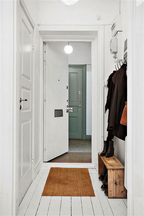 apartment entryway 20 sqm apartment in stockholm with scandinavian design