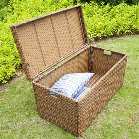 10 by 10 viscous belgium square area rug freeport brown wicker outdoor storage deck box