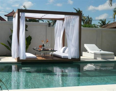 pool beds outdoor wood gazebo with romantic canopy jinday by senses digsdigs