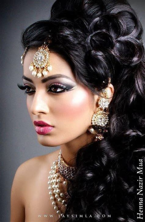 india hair indian style makeup and hairstyle looks for brides styles weekly