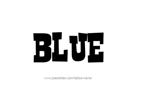 blue color name tattoo designs tattoos with names