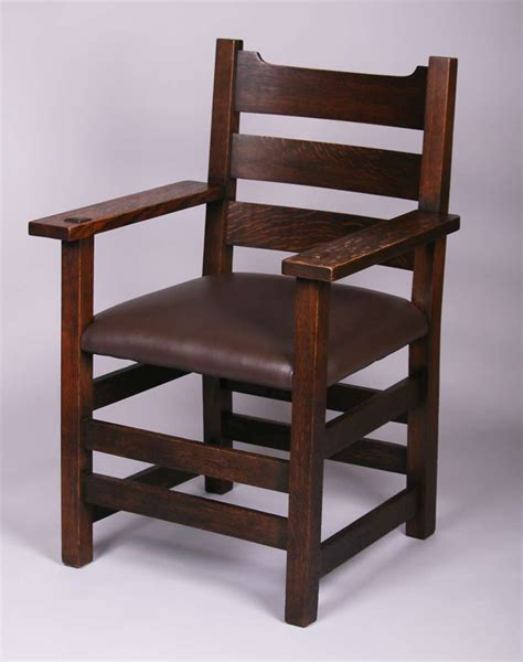 stickley armchair early gustav stickley u back armchair 2616 california