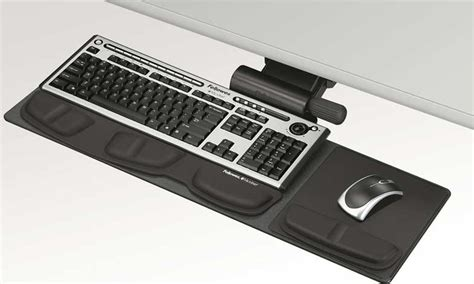 How To Add A Keyboard Tray To A Desk by Fellowes Professional Series Compact Keyboard