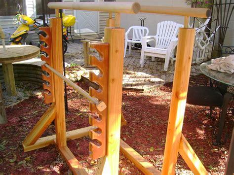 backyard pull up station parallel bars diy crafts