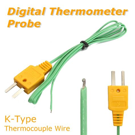 Probe Sensor Thermocouple Probe Digital Temperature K Type 50650 k type thermocouple wire digital thermometer temperature sensor probe alex nld