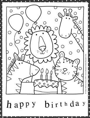 Happy Birthday Card To Color Printable by 48 Free Birthday Coloring Pages To Save Gianfreda Net
