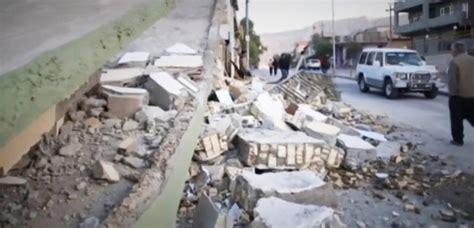 earthquake tremors 7 3 magnitude earthquake hits iran and iraq killing