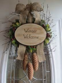 Winter Door Wreaths by Winter Wreath Wreath Diy