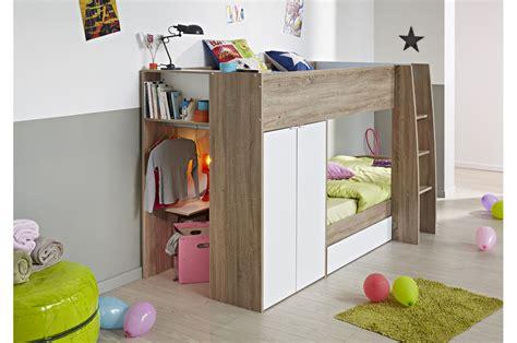 Lit Enfant Chene by Lit Superpos 233 Enfant Ch 234 Ne Et Blanc Trendymobilier