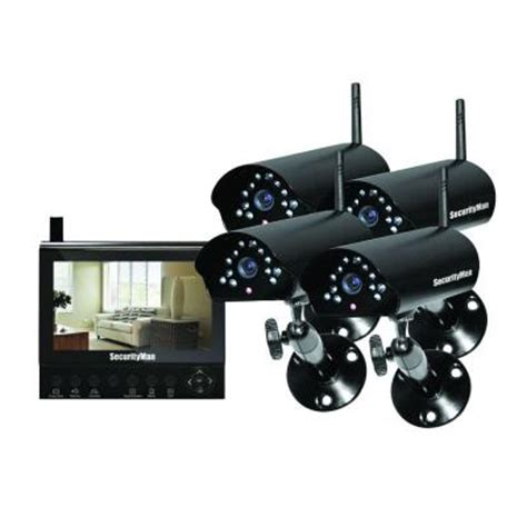 securityman 4 channel (4) wireless security system with 7