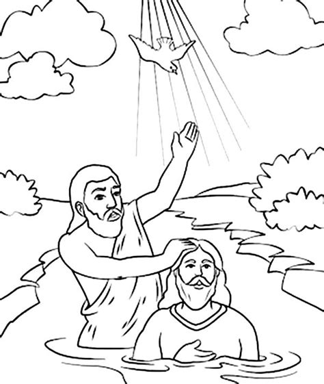 printable coloring pages john the baptist holy spirit came down in john the baptist coloring page