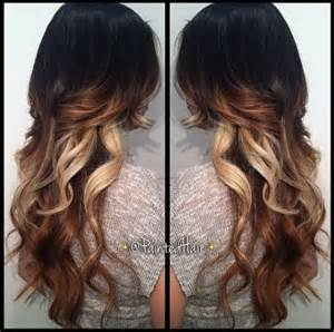 hair styles brown on botton and blond on top pictures of it tri colored hair ombre with long layers awesome hair