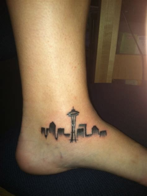 seattle skyline tattoo skyline designs ideas and meaning tattoos for you