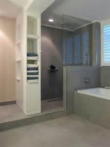 badezimmer dusche graue fliesen dusche einrichtung