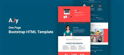 Ajy One Page Bootstrap Html Template Creativecrunk Bootstrap Advertisement Template